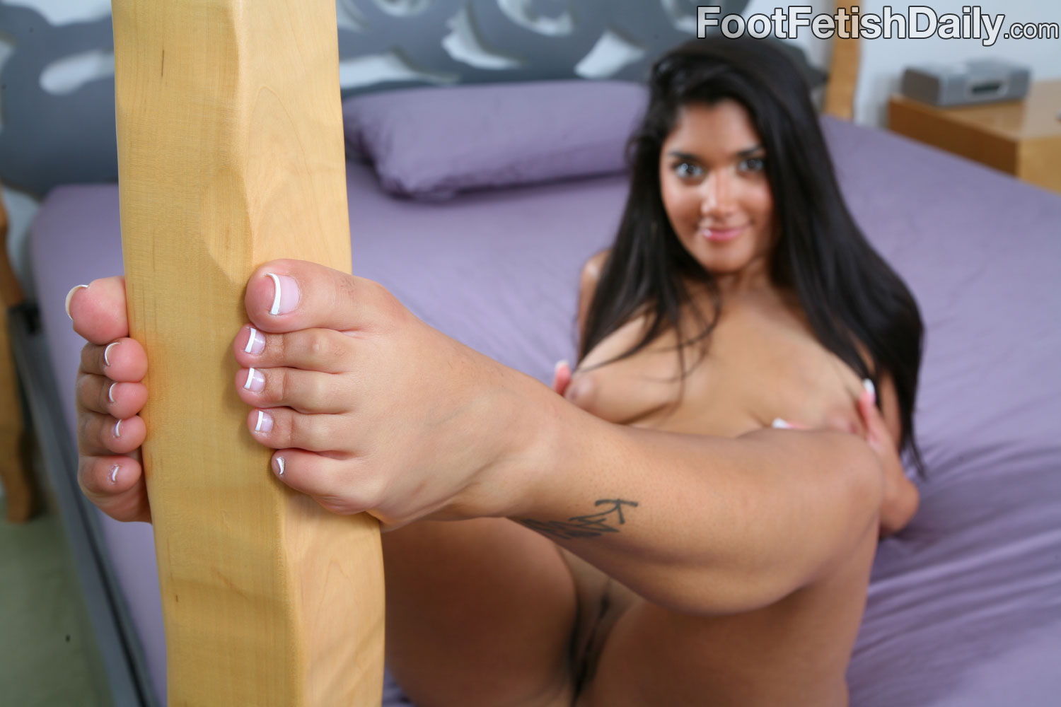 On footjob feet cum
