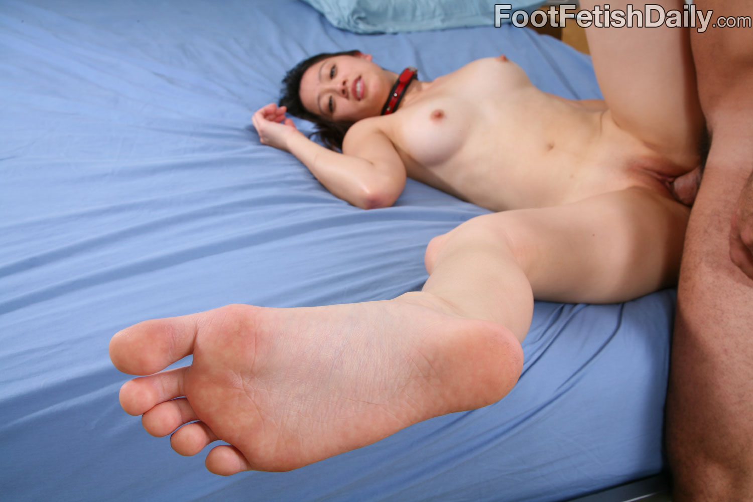 Sexy Asian Undressed Foot Fetish Action